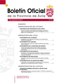 Boletín Oficial de la Provincia del martes, 8 de septiembre de 2015