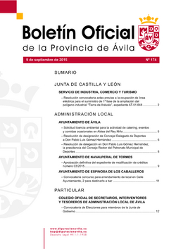 Boletín Oficial de la Provincia del miércoles, 9 de septiembre de 2015