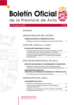 Boletín Oficial de la Provincia del miércoles, 11 de marzo de 2015