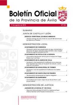 Boletín Oficial de la Provincia del martes, 11 de agosto de 2015
