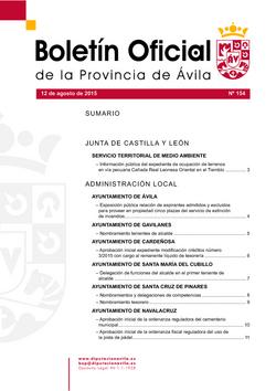Boletín Oficial de la Provincia del miércoles, 12 de agosto de 2015