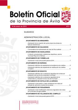 Boletín Oficial de la Provincia del miércoles, 14 de enero de 2015
