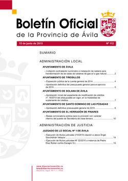 Boletín Oficial de la Provincia del lunes, 30 de noviembre de 2015