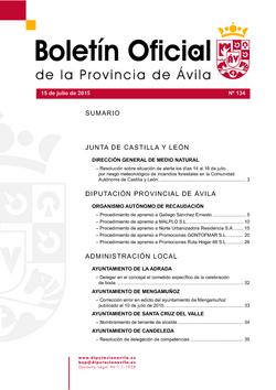 Boletín Oficial de la Provincia del miércoles, 15 de julio de 2015