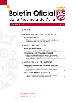 Boletín Oficial de la Provincia del martes, 16 de junio de 2015