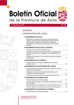 Boletín Oficial de la Provincia del viernes, 17 de julio de 2015