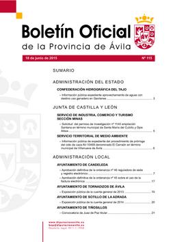Boletín Oficial de la Provincia del jueves, 18 de junio de 2015