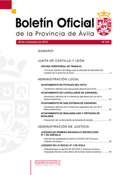 Boletín Oficial de la Provincia del viernes, 20 de noviembre de 2015