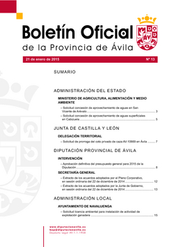 Boletín Oficial de la Provincia del miércoles, 21 de enero de 2015
