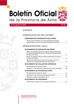 Boletín Oficial de la Provincia del viernes, 21 de agosto de 2015