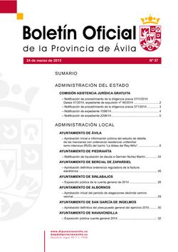 Boletín Oficial de la Provincia del martes, 24 de marzo de 2015