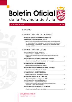 Boletín Oficial de la Provincia del miércoles, 24 de junio de 2015