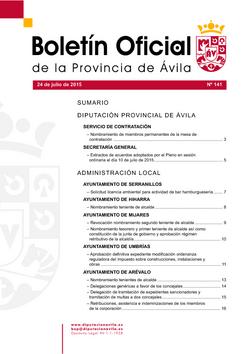 Boletín Oficial de la Provincia del viernes, 24 de julio de 2015