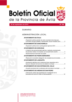 Boletín Oficial de la Provincia del viernes, 25 de septiembre de 2015