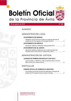 Boletín Oficial de la Provincia del viernes, 28 de agosto de 2015