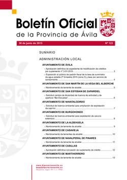 Boletín Oficial de la Provincia del martes, 30 de junio de 2015