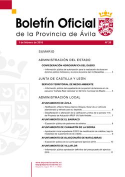 Boletín Oficial de la Provincia del miércoles, 3 de febrero de 2016