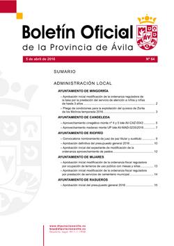 Boletín Oficial de la Provincia del martes, 5 de abril de 2016