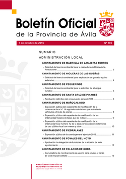 Boletín Oficial de la Provincia del viernes, 7 de octubre de 2016