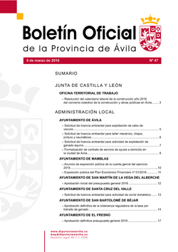 Boletín Oficial de la Provincia del miércoles, 9 de marzo de 2016