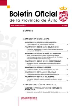Boletín Oficial de la Provincia del martes, 9 de agosto de 2016