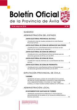 Boletín Oficial de la Provincia del martes, 10 de mayo de 2016