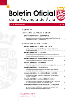 Boletín Oficial de la Provincia del miércoles, 10 de agosto de 2016