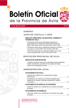 Boletín Oficial de la Provincia del miércoles, 13 de abril de 2016
