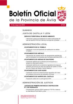 Boletín Oficial de la Provincia del viernes, 13 de mayo de 2016
