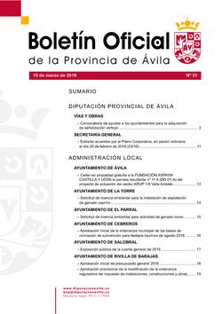 Boletín Oficial de la Provincia del martes, 15 de marzo de 2016