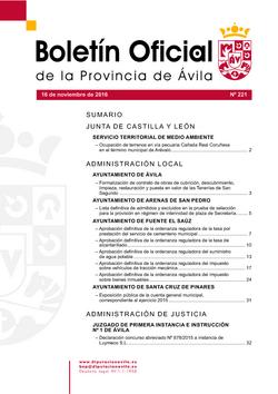 Boletín Oficial de la Provincia del miércoles, 16 de noviembre de 2016