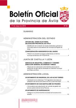 Boletín Oficial de la Provincia del martes, 17 de mayo de 2016