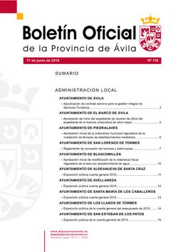 Boletín Oficial de la Provincia del viernes, 17 de junio de 2016