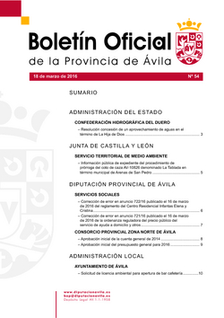 Boletín Oficial de la Provincia del viernes, 18 de marzo de 2016