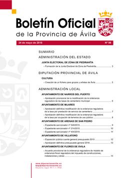 Boletín Oficial de la Provincia del martes, 24 de mayo de 2016