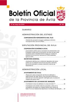 Boletín Oficial de la Provincia del viernes, 27 de mayo de 2016