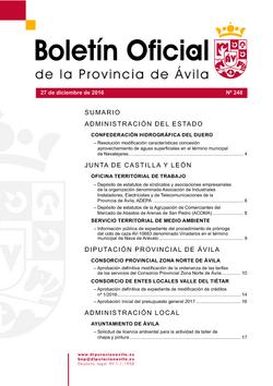 Boletín Oficial de la Provincia del martes, 27 de diciembre de 2016