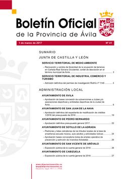 Boletín Oficial de la Provincia del miércoles, 1 de marzo de 2017