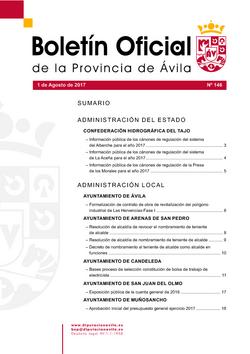 Boletín Oficial de la Provincia del martes, 1 de agosto de 2017
