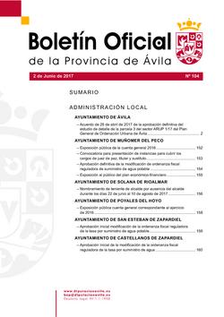 Boletín Oficial de la Provincia del viernes, 2 de junio de 2017