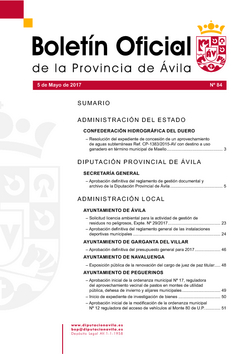 Boletín Oficial de la Provincia del viernes, 5 de mayo de 2017