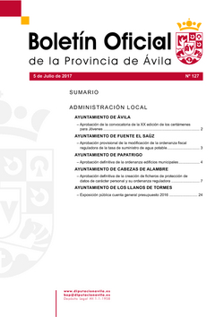 Boletín Oficial de la Provincia del miércoles, 5 de julio de 2017