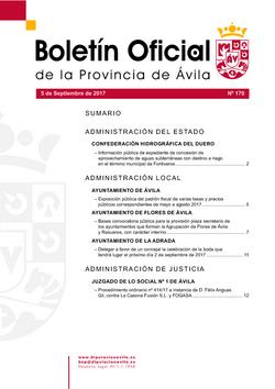 Boletín Oficial de la Provincia del martes, 5 de septiembre de 2017