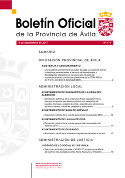 Boletín Oficial de la Provincia del miércoles, 6 de septiembre de 2017