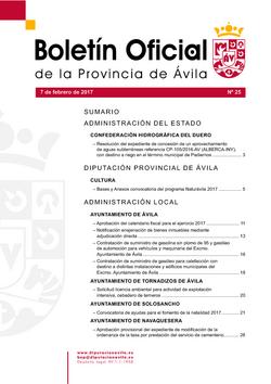 Boletín Oficial de la Provincia del martes, 7 de febrero de 2017