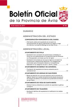 Boletín Oficial de la Provincia del miércoles, 8 de marzo de 2017