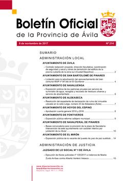 Boletín Oficial de la Provincia del miércoles, 8 de noviembre de 2017