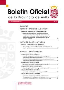 Boletín Oficial de la Provincia del jueves, 9 de febrero de 2017