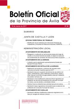 Boletín Oficial de la Provincia del viernes, 10 de marzo de 2017