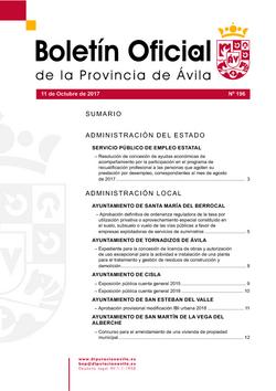 Boletín Oficial de la Provincia del miércoles, 11 de octubre de 2017